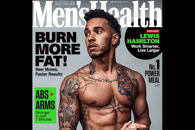 Льюис Хэмилтон на обложке журнала Men's Health
