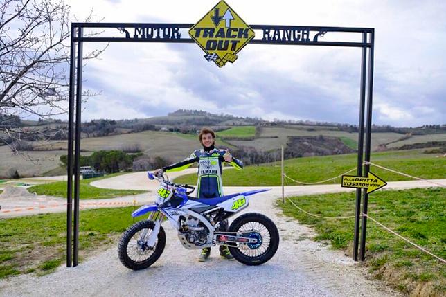 Валентино Росси на въезде в «Ранчо»