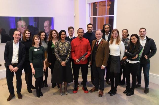 Льюис Хэмилтон на встрече в преподавателями и выпускниками Royal Academy of Engineering
