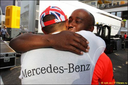 Льюис и Энтони Хэмилтоны (Гран При США 2012 года)