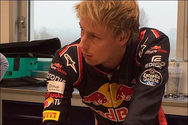 Брендон Хартли на базе Toro Rosso