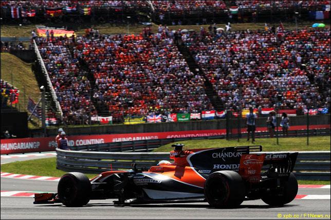 Фернандо Алонсо на Гран При Венгрии
