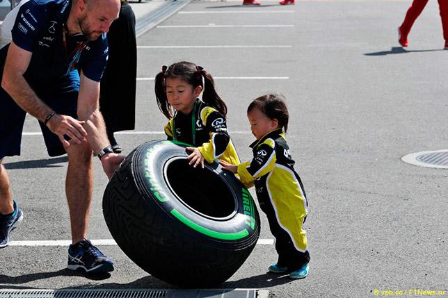 Промежуточная резина Pirelli в Японии