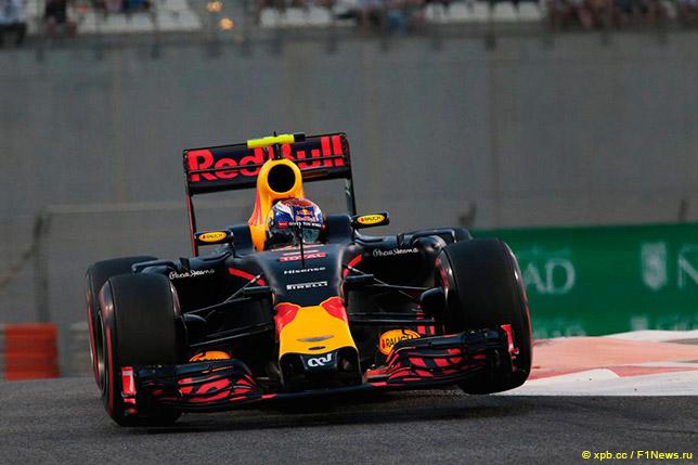 Макс Ферстаппен на шинах SuperSoft на квалификации в Абу-Даби