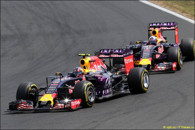 Даниил Квят и Даниэль Риккардо на Гран При Венгрии
