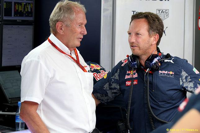 Кристиан Хорнер и Хельмут Марко, консультант компании Red Bull по автоспорту