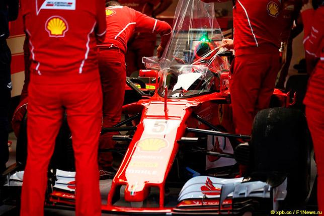 Система Shield на Ferrari Себастьяна Феттеля