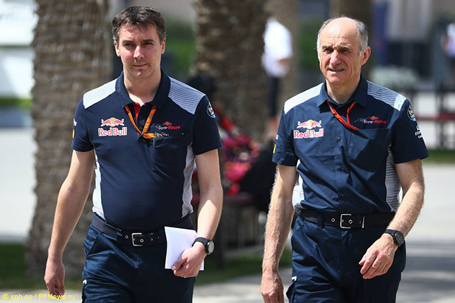 Джеймс Ки, технический директор Toro Rosso, и Франц Тост, руководитель команды