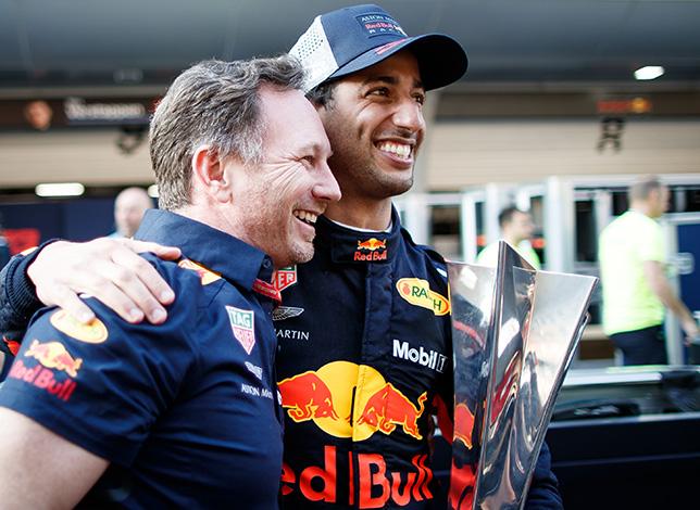 Кристиан Хорнер и Даниэль Риккардо, фото пресс-службы Red Bull Racing