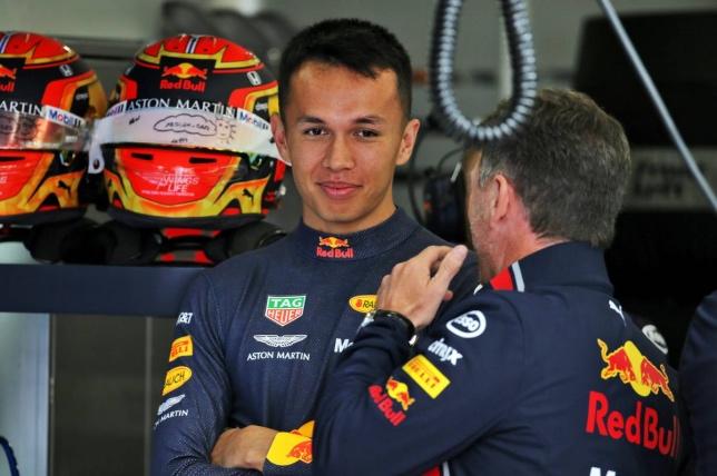 Александер Элбон и Кристиан Хорнер, руководитель Red Bull Racing