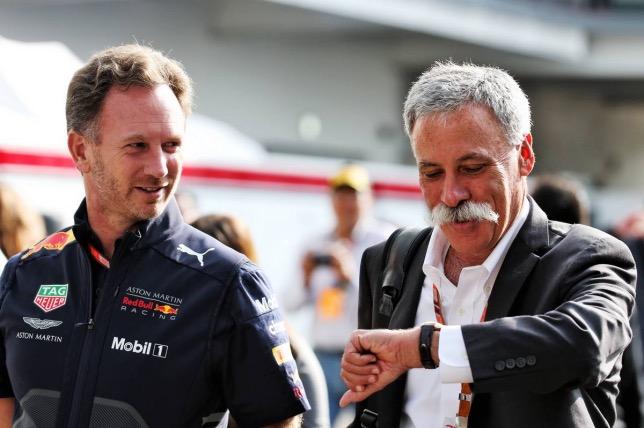 Кристиан Хорнер и Чейз Кэри, исполнительный директор Формулы 1