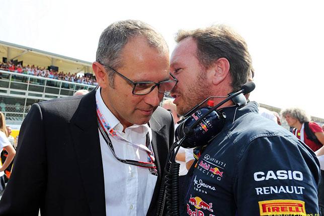 Стефано Доменикали и Кристиан Хорнер на Гран При Италии 2014 года