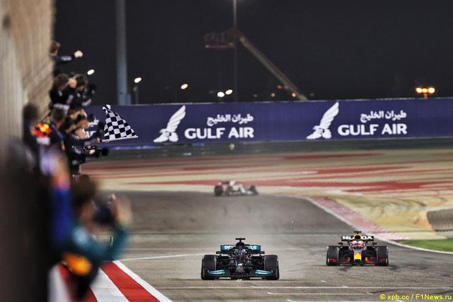 Финиш Гран При Бахрейна