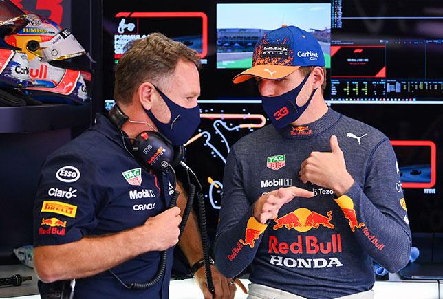 Кристиан Хорнер и Макс Ферстаппен, фото пресс-службы Red Bull Racing