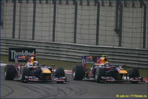 Гонщики Red Bull Racing на Гран При Китая