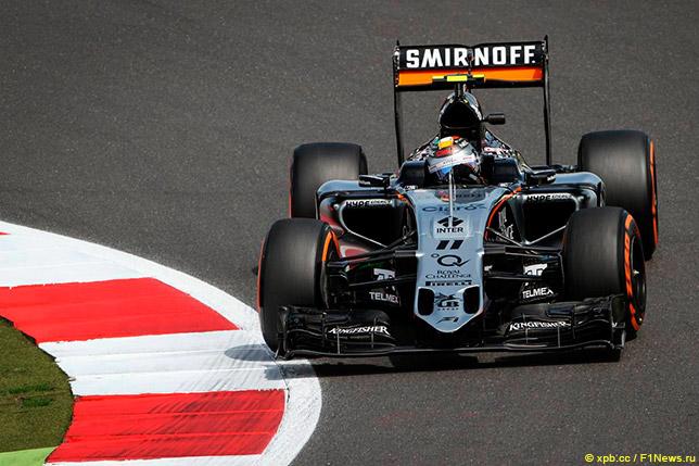 Серхио Перес на Force India VJM08B