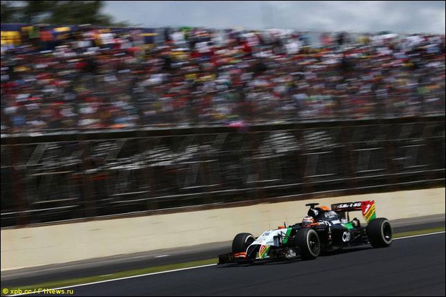 Нико Хюлкенберг на прошлогоднем Гран При Бразилии