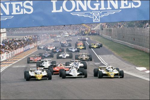 Старт Гран При Италии'80