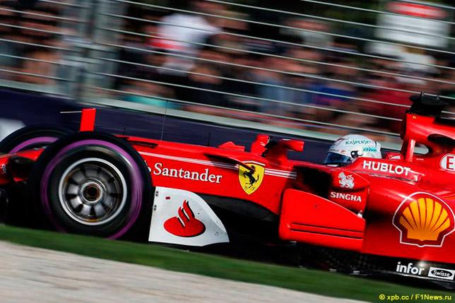 Себастьян Феттель на Гран При Австралии 2017 года