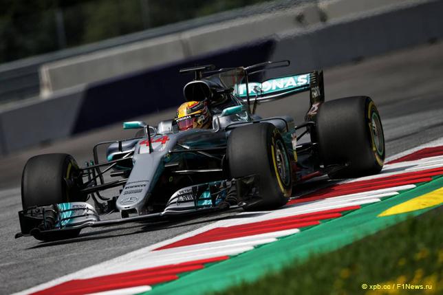 Гран При Австрии. Шины Pirelli на машине Льюиса Хэмилтона