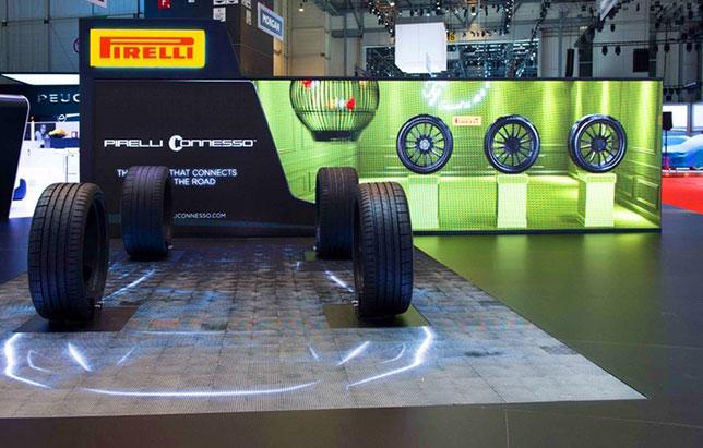 Pirelli демонстрирует технологию Smart Tyre на автомобильных выставках