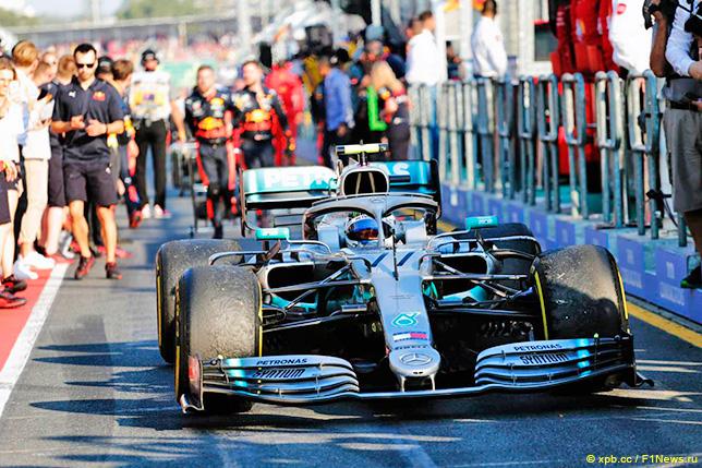 Валттери Боттас после финиша Гран При Австралии