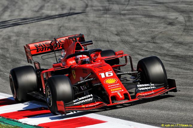 Шины Pirelli на машине Шарля Леклера