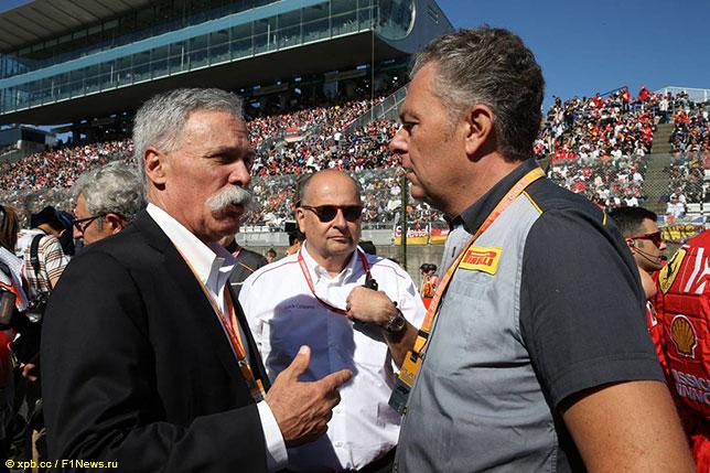 Марио Изола (справа) и Чейз Кэри, исполнительный директор Формулы 1