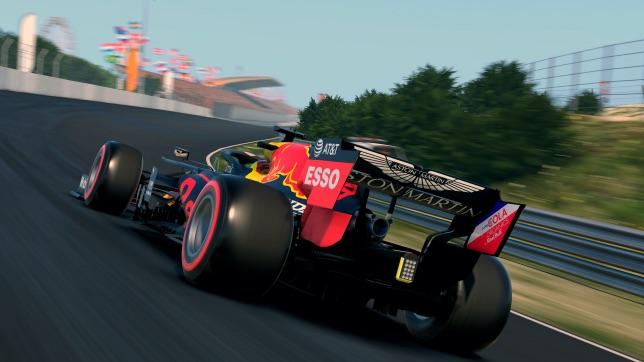 Профилированный поворот на трассе в Зандфорте, компьютерная графика, фото пресс-службы Red Bull Racing