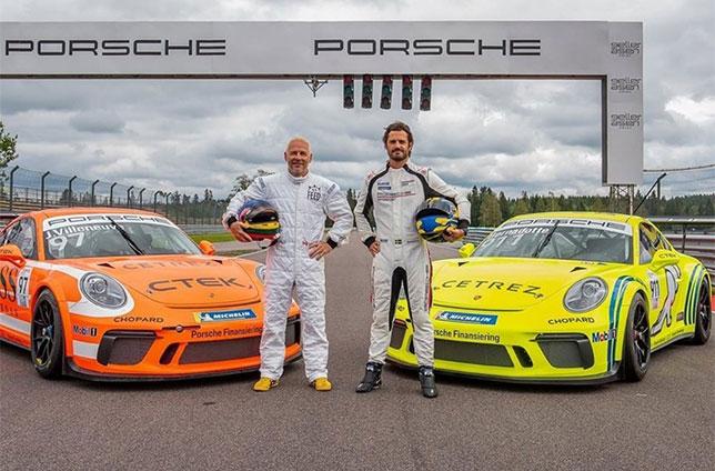 Жак Вильнёв выступает в Скандинавском Кубке Porsche