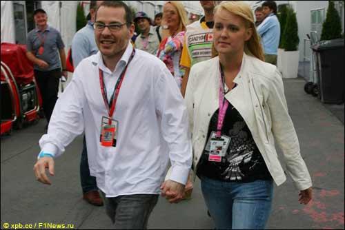 Жак Вильнев и его супруга Джоанна