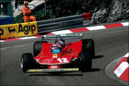 Жиль Вильнёв за рулем Ferrari 312T4