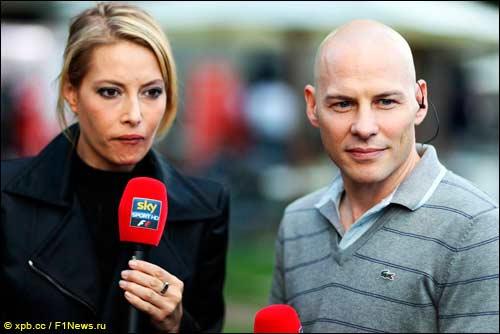 Бригада итальянского SkySports - Сара Уинкхаус и Жак Вильнёв