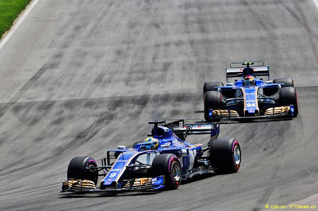 Пилоты Sauber на трассе в Канаде