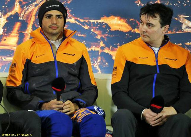 Джеймс Ки (справа) и Карлос Сайнс