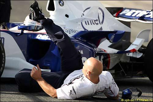 Инцидент в боксах BMW Sauber