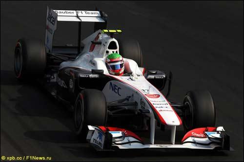 Серхио Перес на квалификации Гран При Италии