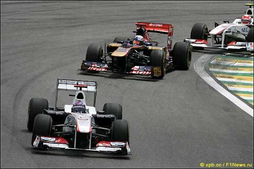 Камуи Кобаяши на трассе Гран При Бразилии