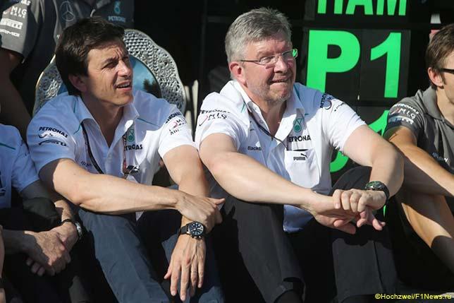 Тото Вольфф и Росс Браун, Гран При Венгрии 2013 года