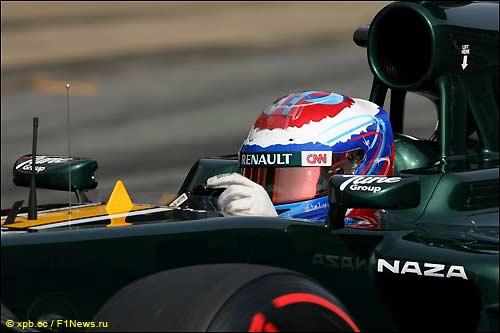 Виталий Петров за рулем Caterham CT01