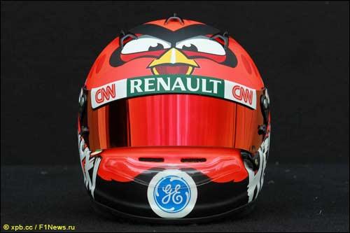 Новый шлем Хейкки Ковалайнена