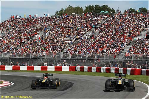 Гонщики Caterham на трассе Гран При Канады