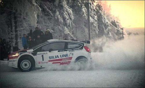 Хейкки Ковалайнен на трассе Arctic Lapland Rally