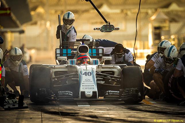 Роберт Кубица за рулём Williams на тестах в Абу-Даби