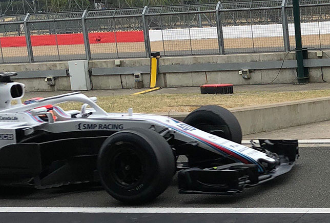 Роберт Кубица за рулём Williams на шинных тестах в Сильверстоуне