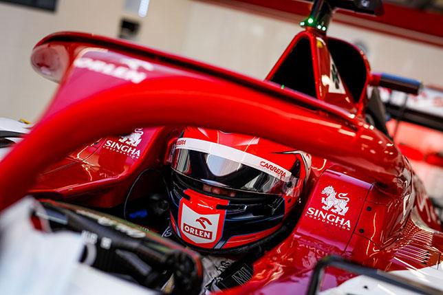 Роберт Кубица за рулём Alfa Romeo C39