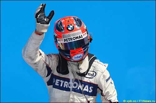 Роберт Кубица после финиша Гран При Европы
