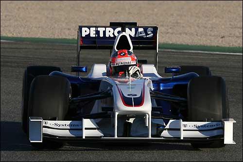 Роберт Кубица за рулём BMW Sauber F1.09