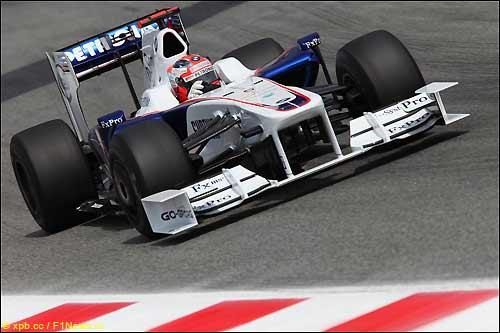 Роберт Кубица за рулем F1.09