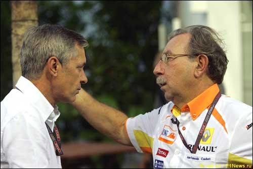 Даниэле Морелли, менеджер Роберта Кубицы, и Жан-Франсуа Кобе, Renault